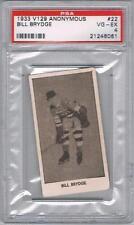 1933 V129 Anonymous New York Americans Hockey Card #22 Bill Brydge Graded PSA 4