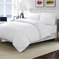 NEW WHITE T-200 PERCALE 100% EGYPTIAN COTTON SOFT FLAT BED SHEET IN KING SIZE