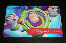 DISNEY GIFT CARD NO CASH VALUE TOY STORY BUZZ LIGHTYEAR COLLECTIBLE ONLY