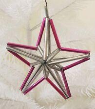 Vintage Star of Bethlehem Antique Christmas Tree Decor Tubes Glass