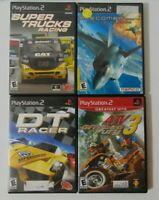 PS2 (4) Game Racing Lot - Super Trucks - DT Racer - Ace Combat 4 - ATV Offroad 3