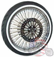 21 X 3.5 52 Mammoth Chrome Evo Fat Spoke Wheel Tire Harley Touring Package 08+NA
