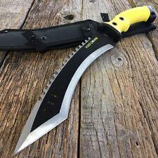 "16"" KUKRI TACTICAL HUNTING SURVIVAL RAMBO FIXED BLADE MACHETE KNIFE Axe"