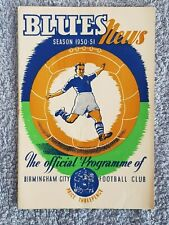 1951 - BIRMINGHAM CITY v MANCHESTER UTD PROGRAMME - FA CUP 6TH ROUND - 50/51