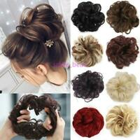 100% Natural Curly Messy Bun Hair Piece Extra Thick Hair Extensions Scrunchie