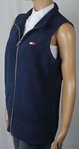 Tommy Hilfiger Navy Blue Fleece Vest Jacket Full Zip NWT