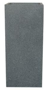 IDEALIST Textured Concrete Effect Tall Square Outdoor Planter