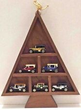 Readers Digest Diecast Toy Car Replicas 6 Lot Vtg 1989 Promo Tree Display Shelf
