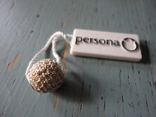 persona sterling silver european round charm bead yellow crystals $65.