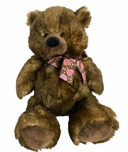 "Ganz Chocolate Truffles Bear Plush Teddy Brown 16""  Stuffed Animal Valentines"
