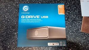 G-Technology G-DRIVE USB G1 10TB - Silver 0G05017-1  NEW UNOPENED IN BOX