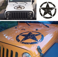 Car Vinyl Graphic Decal Sticker US Army Star Distressed Styling For Jeep 50x50cm