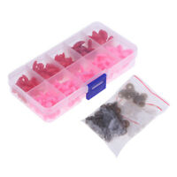 130 Pieces Plastic Safety Noses for Bear Animals Doll Making DIY Red & Pink