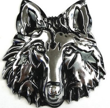 1PC 3D Wolf Head Pattern Metal Car Sticker Emblem Decal Accessories Car Badge