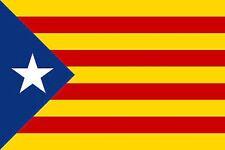 L'Estelada Blava Catalonia 5' x 3' Flag Spain Catalan Independence Spanish