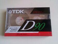 TDK D 90 New Sealed TYPE I Cassette - Audio Sigillata Sealed Blank Vintage Tape