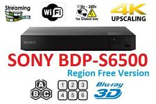 Sony BDP-S6500 Region free Blu Ray player Multi region Smart wifi 4k A B C & 0-8