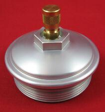6.0L Powerstroke Billet Fuel Filter Cap w/ Schrader Valve -  Test Fuel Pressure