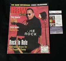 THE ROCK DWAYNE JOHNSON SIGNED WWE RAW MAGAZINE JSA AUTHENTICATED