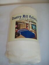 Cream fleece  throw / picnic blanket / travel rug Brand new