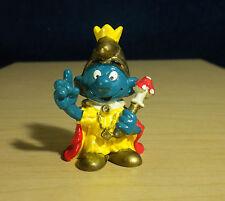 Smurfs Emperor King Smurf Gold Hat Vintage Figure Peyo PVC Toy Figurine 20046