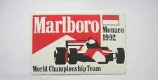 ADESIVO AUTO F1 anni '90 / Old Sticker GRAND PRIX MONACO 1992 (cm 12 x 7,5)
