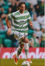 Georgios SAMARAS SIGNED Autograph 12x8 Photo AFTAL COA CELTIC SPL Title WINNERS