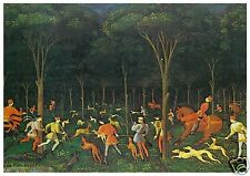 P Uccello - A Hunt in the Forest - MEDICI POSTCARDS