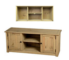 Seconique Panama Natural Wax Pine 2 Door 1 Shelf Flat Screen TV Unit