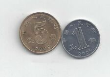 2 COINS from the PEOPLE's REPUBLIC of CHINA - 1 & 5 JIAO (BOTH DATING 2009)