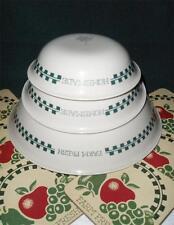 Corelle FARM FRESH Fruit Sandstone 10oz DESSERT BOWL Green Gingham JAM Jelly NEW