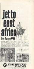 1968 Ethiopian Airlines  PRINT AD Great Detailed Vintage Ad