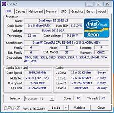 Intel Xeon E5-2695 v2 QS LGA2011 12C Compatible with X79 i7 3960X 4930K 4960X