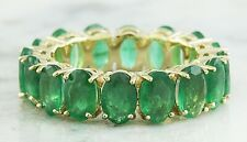 6.20 Carat Natural Emerald 14K Solid Yellow Gold Ring