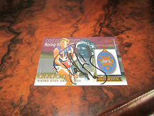 FREMANTLE DOCKERS - PAUL HASLEBY SIGNED 2001 NORWICH RISING STAR MEDAL CARD