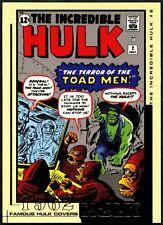 2/7/1962 #FC02 Hulk Film & Comic Famous Covers 2003 Upper Deck Trade Card (C888)