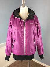 Orage Laona Insulator Reversible Ski Snowboard Jacket Hood black purple EUC M L