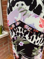 STAR By Julien Macdonald Long Stretchy V Neck Sleeveless Dress Floral Lined 10