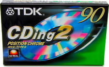 More details for tdk cding2 90 blank type 2 ii chrome audio cassette tape - new & sealed