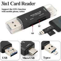 Card Reader Adapter 3in1 USB3.1 USB-C TF Type C  For Macbook High Quality