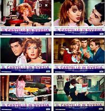 CHATEAU EN SUEDE Italian fotobusta movie poster x12 MONICA VITTI FRANCOISE HARDY