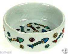 12 cm in Ceramica Gatto Gattino Ciotola Bacinella con design colorato di pesce 4.5 pollici