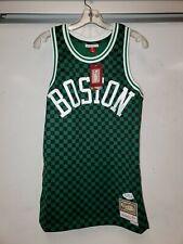 Mitchell & Ness Boston Celtics Mens Checkerboard Swingman finals Jersey sz small