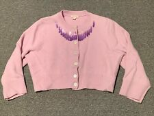 Marc Jacobs Sequins Crop Top Wool Cardigan Sweater Sz L Made in Italy