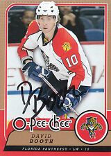 DAVID BOOTH PANTHERS AUTOGRAPH AUTO 08-09 O-PEE-CHEE OPC #180 *10714