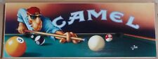 """Joe Camel Playing Pool Lithograph 40"""" by 15"""" Catalog Only RARE Mint NEW"""