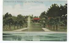 1910 Postcard of a Large Mansion at Hillsborough San Mateo County CA