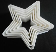 Set of 5 Star Shape Cookie Cutters