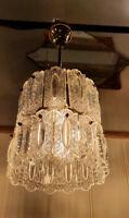 'Doria Leuchten' Pressed Glass Chandelier, Mid-Century 1960's