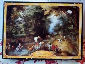 Philmar Jigsaw Puzzle Masterpiece Road in the Wood 850 Pce Complete Vintage Rare
